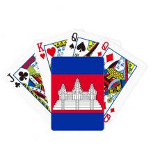 柬埔寨国旗亚洲洲国家象征符号图案 扑克牌休闲纸牌游戏纪念礼物