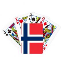 挪威国旗欧洲国家象征符号图案 扑克牌休闲纸牌游戏纪念礼物