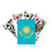 哈萨克斯坦国旗亚洲洲国家象征符号图案 扑克牌休闲纸牌游戏纪念礼物