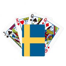 瑞典国旗欧洲国家象征符号图案 扑克牌休闲纸牌游戏纪念礼物