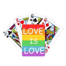 同性恋彩虹旗造型心图案 扑克牌休闲纸牌游戏纪念礼物