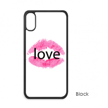 情人节淡粉色嘴唇爱 iPhone X 手机壳手机保护套礼物