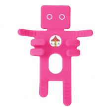 游乐园彩色旋转木马图案 粉色车载手机支架出风口卡扣懒人导航架