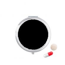 大教堂插画线描图案 圆形药盒便携镜子迷你药丸盒子礼物