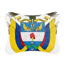 哥伦比亚国徽标志符号图案 纸质卡片相框拼图游戏桌面装饰礼物