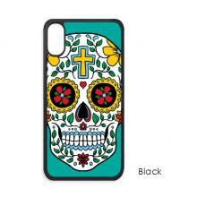 藤蔓骷髅头花十字架墨西哥 iPhone XS Max手机壳apple苹果手机保护套礼物