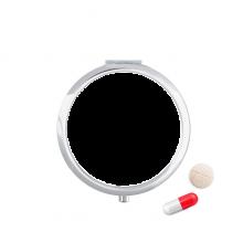 一生悬命 圆形药盒便携镜子迷你药丸盒子礼物