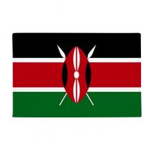 肯尼亚国旗非洲国家象征符号图案 防滑地垫地毯卧室卫生间地板法兰绒垫礼物