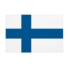 芬兰国旗欧洲国家象征符号图案 防滑地垫地毯卧室卫生间地板法兰绒垫礼物