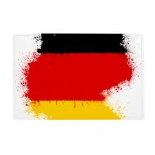 德国国旗国家地图插画图案 防滑地垫地毯卧室卫生间地板法兰绒垫礼物