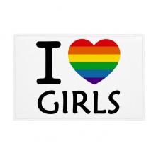 LGBT同性恋彩虹心艺术图案 防滑地垫地毯卧室卫生间地板法兰绒垫礼物