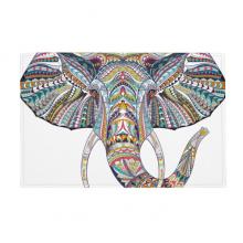 马赛克多种色彩大象图案 防滑地垫地毯卧室卫生间地板法兰绒垫礼物