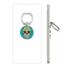 藤蔓骷髅头花十字架墨西哥 手机支架指环多功能黏贴懒人桌面支撑礼品