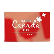 枫叶加拿大节日快乐七月四号标语 防滑地垫地毯卧室卫生间地板法兰绒垫礼物