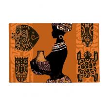 黑人非洲部落女性图腾 防滑地垫地毯卧室卫生间地板法兰绒垫礼物