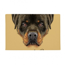 黑色凶恶罗威纳犬 防滑地垫地毯卧室卫生间地板法兰绒垫礼物