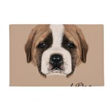 棕色可爱圣伯纳德狗 防滑地垫地毯卧室卫生间地板法兰绒垫礼物