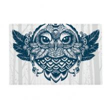 森林中的女王猫头鹰 防滑地垫地毯卧室卫生间地板法兰绒垫礼物