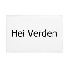 你好世界挪威语 防滑地垫地毯卧室卫生间地板法兰绒垫礼物