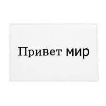 你好世界俄语 防滑地垫地毯卧室卫生间地板法兰绒垫礼物