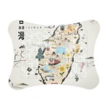 地图台湾旅游特色 纸质卡片相框拼图游戏桌面装饰礼物