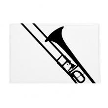 长号古典音乐乐器图案 防滑地垫地毯卧室卫生间地板法兰绒垫礼物