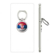 塞尔维亚国旗足球纹样 手机支架指环多功能黏贴懒人桌面支撑礼品