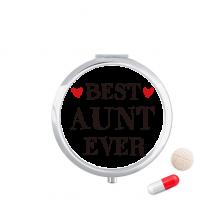 很好的姑妈摘引亲戚 圆形药盒便携镜子迷你药丸盒子礼物