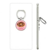 西式巧克力甜品甜甜圈设计 手机支架指环多功能黏贴懒人桌面支撑礼品