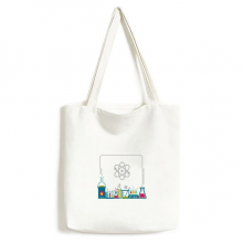 试管液体化学实验图案 白色单肩帆布包手提袋时尚环保袋礼物