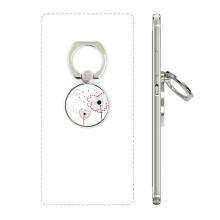 爱心蒲公英花卉植物 手机支架指环多功能黏贴懒人桌面支撑礼品