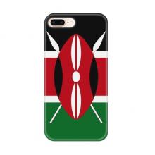 肯尼亚国旗非洲国家象征符号图案 苹果iPhone7/8Plus手机软壳TPU硅胶超薄全包围保护套