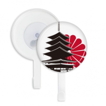 日本国徽菊花寺庙图案 吸附式挂钩强力吸盘钩子免打孔5件礼物
