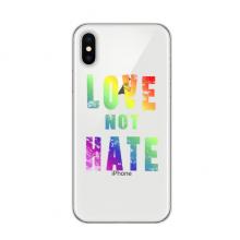 同性恋彩虹艺术图案 苹果iPhoneX手机软壳TPU硅胶超薄全包围保护套