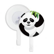 中国熊猫竹子传统图案 吸附式挂钩强力吸盘钩子免打孔5件礼物