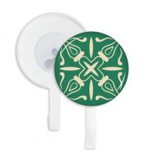 塔拉维拉风格绿色纹样 吸附式挂钩强力吸盘钩子免打孔5件礼物