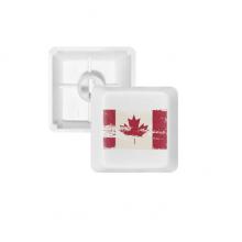 加拿大国旗红米黑色图案 键帽机械键盘PBT无刻白色键位OEM尺寸