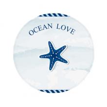 海星海洋海军领航航海插画 圆形地垫防滑地毯卧室宠物法兰绒垫60/50cm礼物