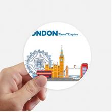 伦敦眼双层巴士伦敦涂鸦 圆形贴纸10cm摩托电脑贴画旅行箱装饰8片