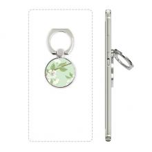 白桃花植物手绘花卉 手机支架指环多功能黏贴懒人桌面支撑礼品