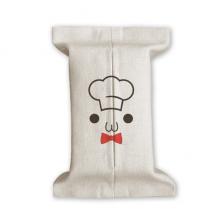可爱颜文字我是小厨师表情 棉麻纸巾收纳布袋盒布套纸抽袋家居礼物