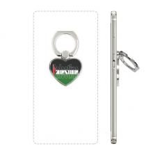 巴勒斯坦国旗英文名 心形手机支架指环黏贴懒人桌面支撑礼品