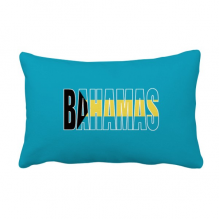 巴哈马国旗英文名 抱枕靠枕腰枕沙发靠垫双面含芯礼物