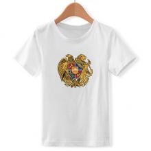 亚美尼亚埃里温国徽 儿童白色短袖T恤创意纪念衫个性T恤衫礼物