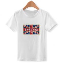 英国国旗米字旗标记插画 儿童白色短袖T恤创意纪念衫个性T恤衫礼物