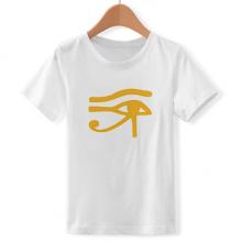古埃及眼睛艺术图案 儿童白色短袖T恤创意纪念衫个性T恤衫礼物