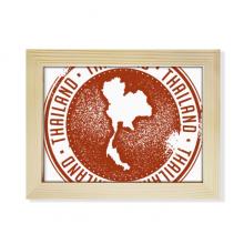泰国传统我爱泰国地图 实木摆台相框原木质家居装饰画框8寸