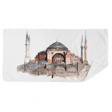 土耳其伊斯坦布尔圣索菲亚大教堂 毛巾细纤维面巾加厚吸水干发巾35x70cm