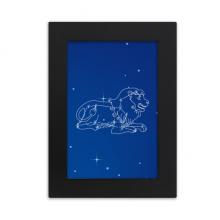七月八月狮子星座星空 实木摆台相框黑色家居装饰画框6寸