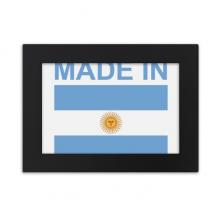 阿根廷国旗国家制造 实木相框摆台黑色家居装饰画框6寸